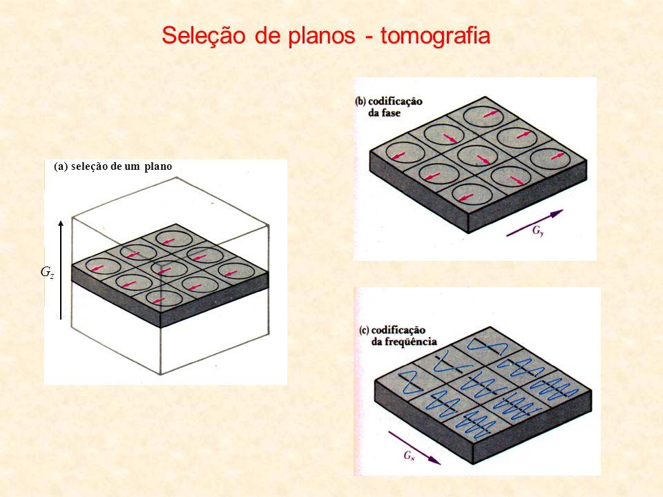 Seleção de planos - tomografia GzGz (a) seleção de um plano
