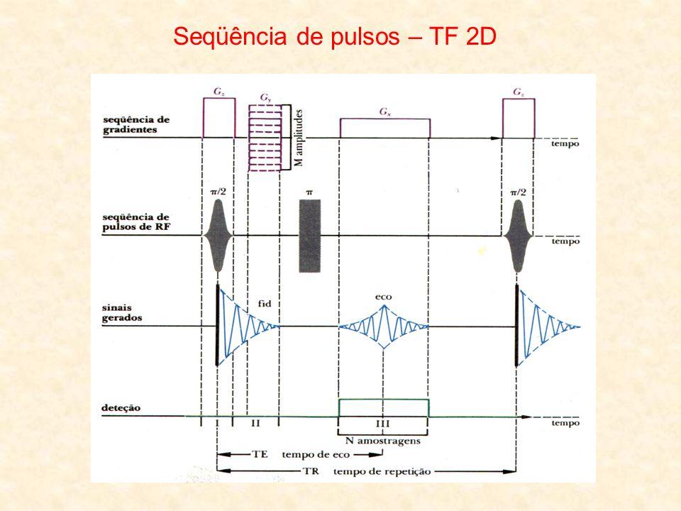Seqüência de pulsos – TF 2D