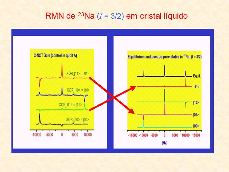 RMN de 23 Na ( I = 3/2) em cristal líquido
