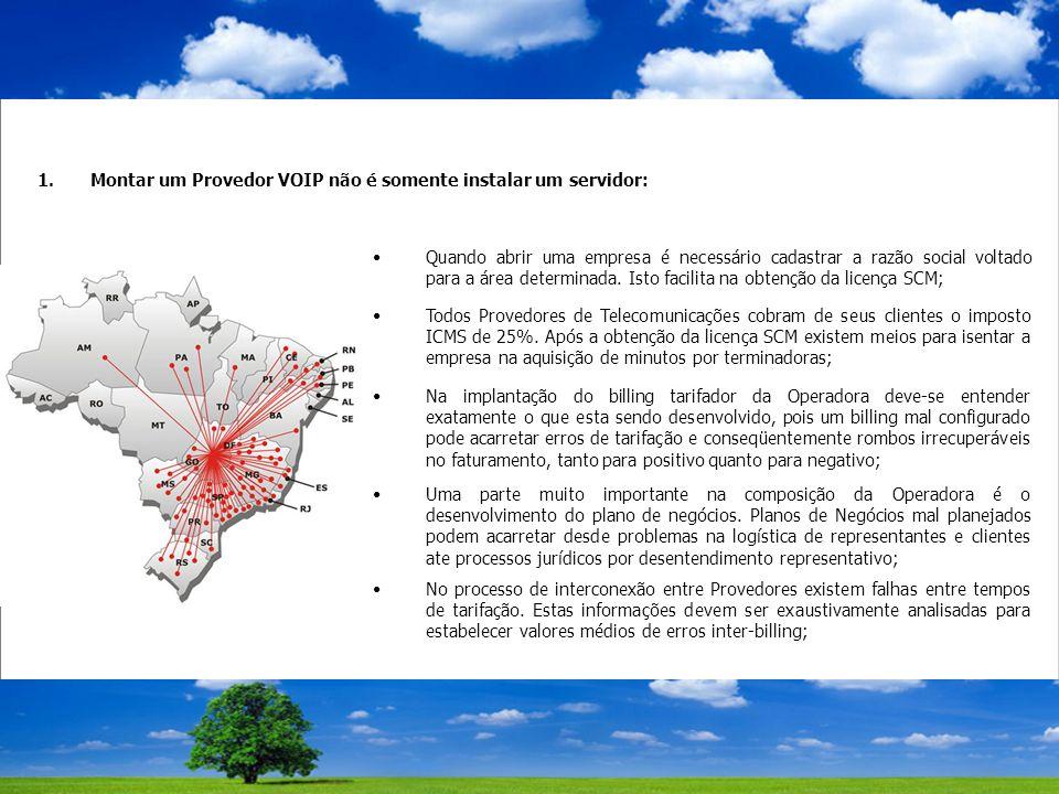 1.Montar um Provedor VOIP não é somente instalar um servidor: Quando abrir uma empresa é necessário cadastrar a razão social voltado para a área determinada.