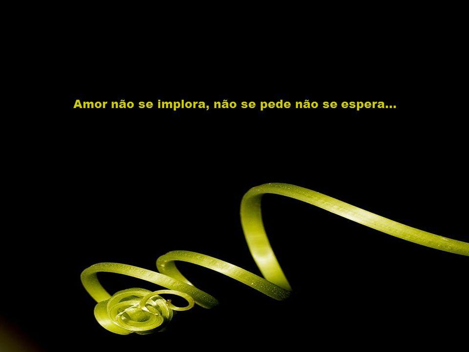 Amor não se implora, não se pede não se espera...