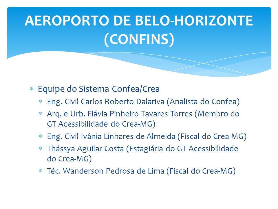 Equipe do Sistema Confea/Crea Eng. Civil Carlos Roberto Dalariva (Analista do Confea) Arq. e Urb. Flávia Pinheiro Tavares Torres (Membro do GT Acessib