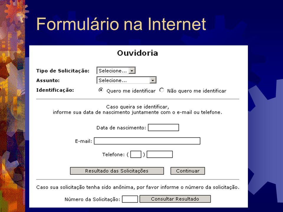 Formulário na Internet