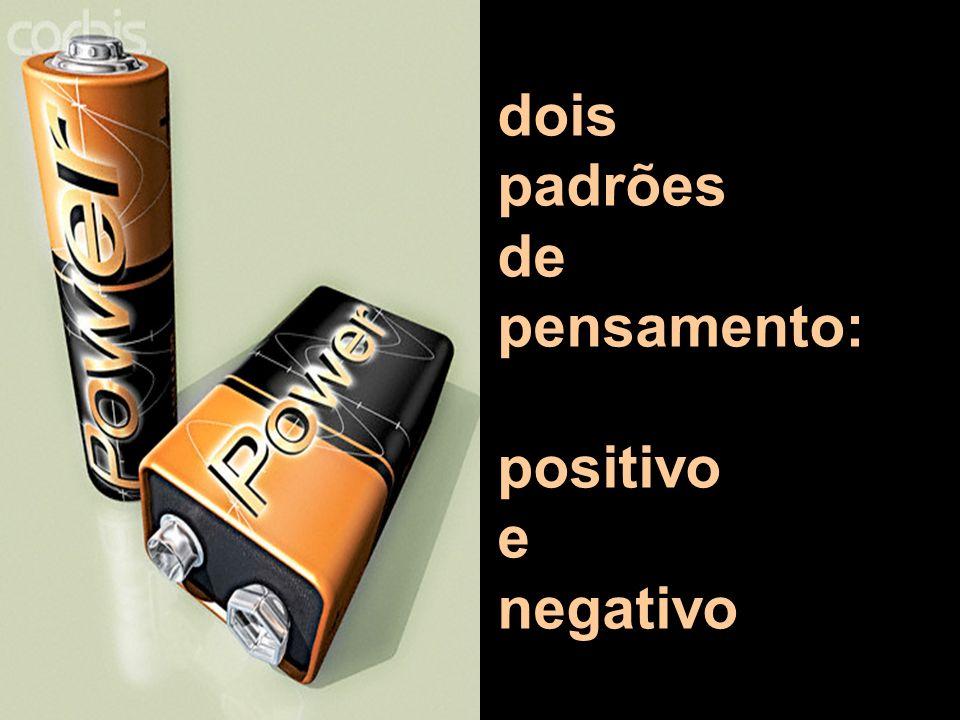dois padrões de pensamento: positivo e negativo