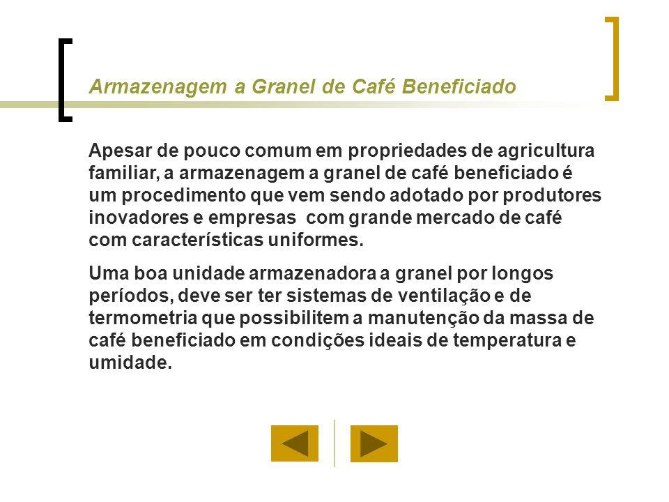 Armazenagem a Granel de Café Beneficiado Apesar de pouco comum em propriedades de agricultura familiar, a armazenagem a granel de café beneficiado é u