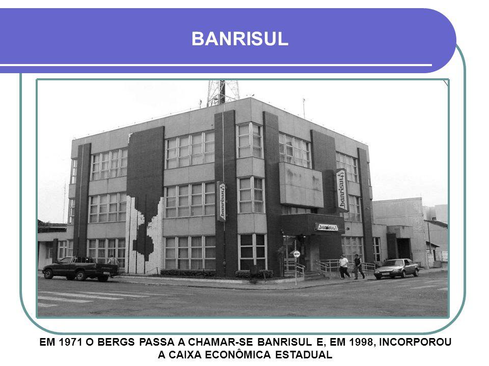 BERGS – CRUZ ALTA INFELIZMENTE O PRÉDIO ORIGINAL FOI DEMOLIDO EM 1976 PARA DAR LUGAR AO MODERNO, MAS NÃO TÃO BONITO, PRÉDIO DO BANCO DO RIO GRANDE DÉC