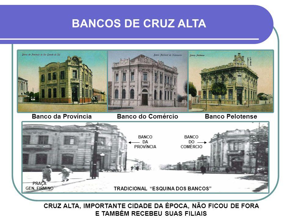 Assim, em 1858, comerciantes porto-alegrenses fundaram o BANCO DA PROVÍNCIA do Rio Grande do Sul, considerado o primeiro banco do estado e um dos prim