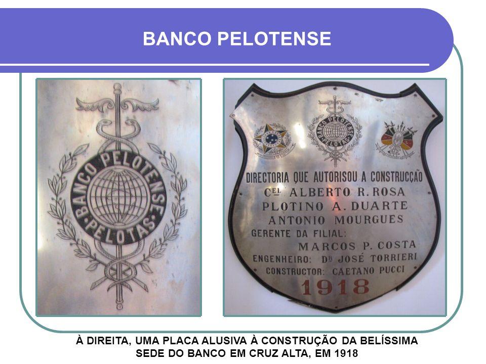 IMAGEM DE SATÉLITE 1- Banco Nacional do Commercio 2- Banco da Província 3- Banco Pelotense 1 2 3 Praça General Firmino RUA MARIZ E BARROS AV. GENERAL