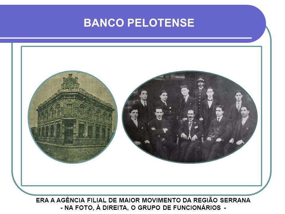 SR. MARCOS PRADO COSTA, GERENTE DA FILIAL DE CRUZ ALTA BANCO PELOTENSE