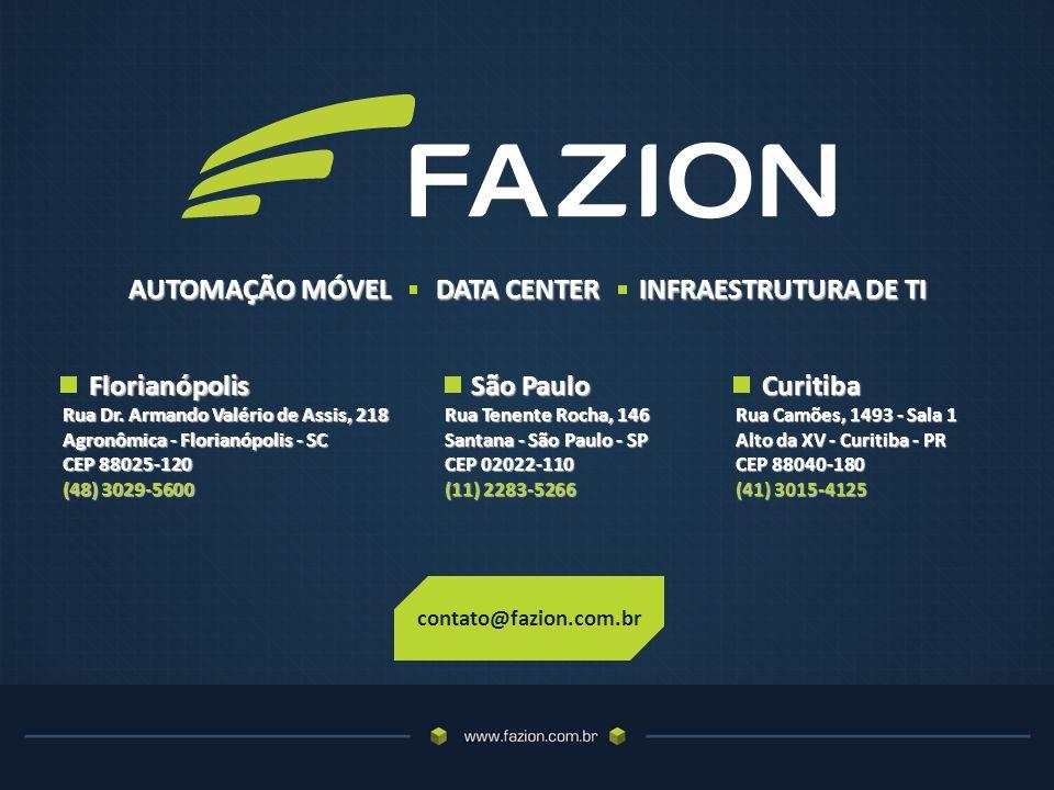 contato@fazion.com.br Florianópolis Florianópolis Rua Dr.