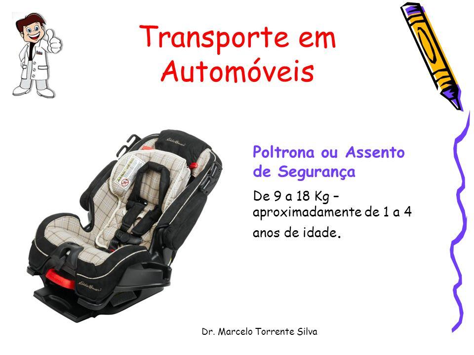 Dr. Marcelo Torrente Silva Transporte em Automóveis Poltrona ou Assento de Segurança De 9 a 18 Kg – aproximadamente de 1 a 4 anos de idade.