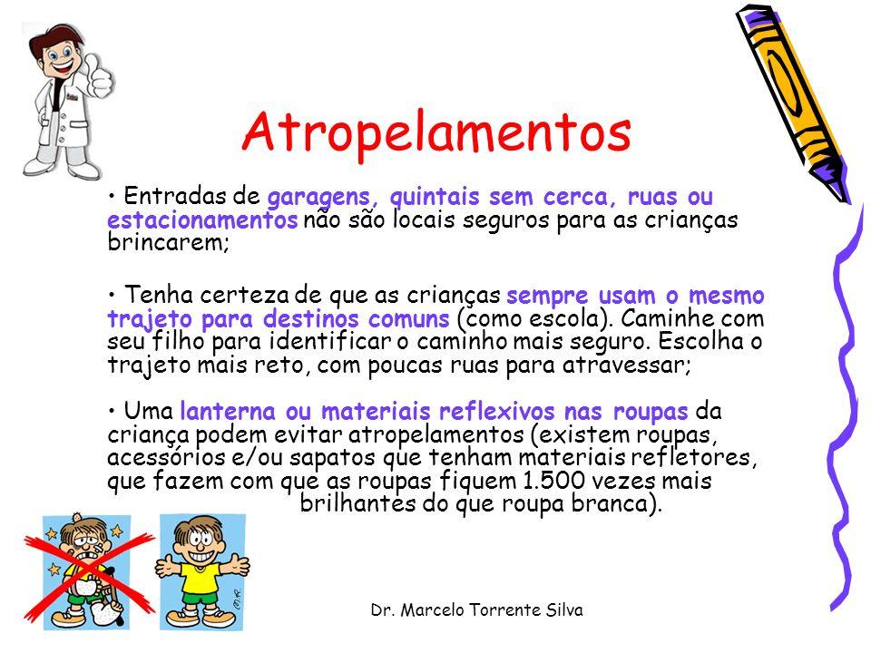 Dr. Marcelo Torrente Silva Atropelamentos Entradas de garagens, quintais sem cerca, ruas ou estacionamentos não são locais seguros para as crianças br