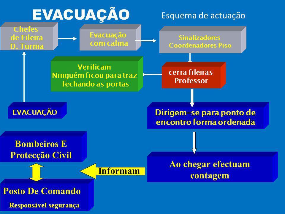 EVACUAÇÃO Esquema de actuação Chefes de Fileira D.