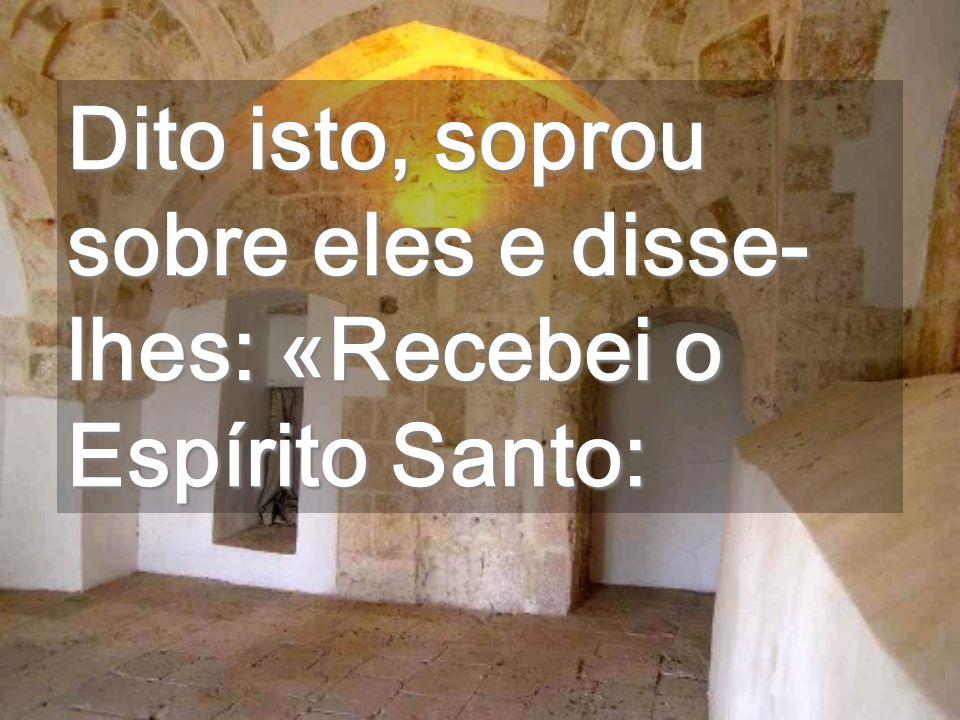 Assim como o Pai e Eu vimos ao vosso lado, agora pelo Espírito estaremos dentro de vós Vinde, Espírito Santo...
