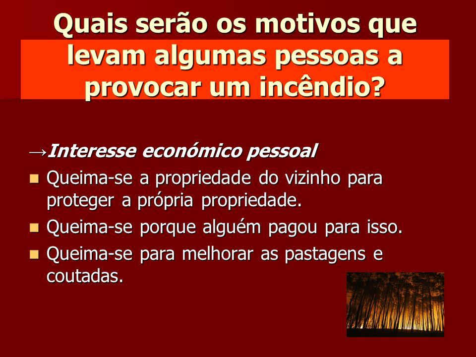 Interesse económico indirecto Interesse económico indirecto Para obrigar a população a vender madeira.