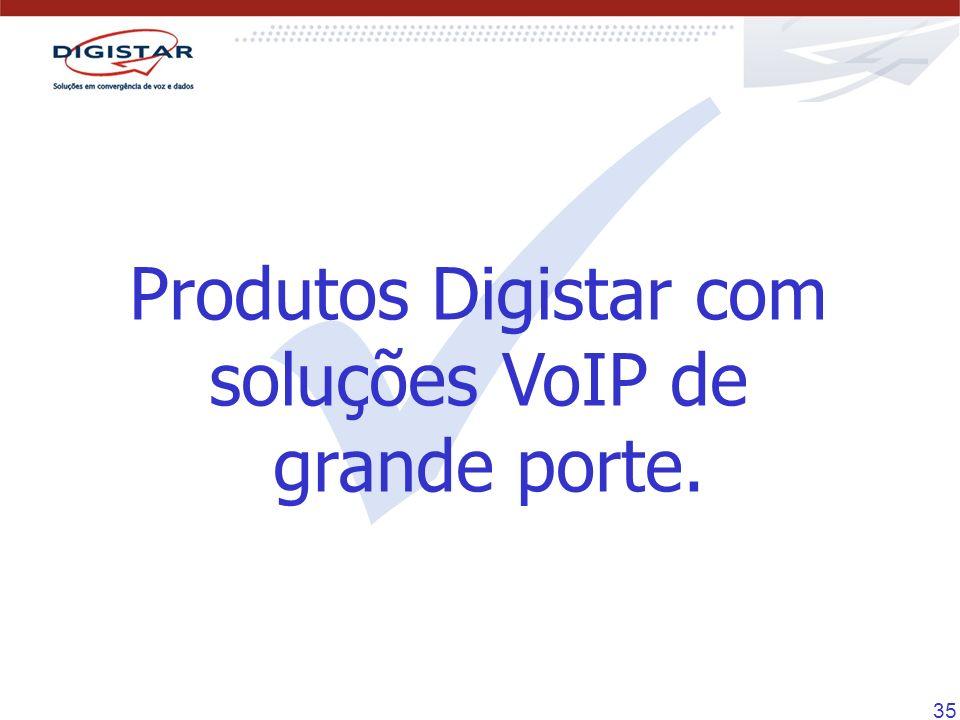 35 Produtos Digistar com soluções VoIP de grande porte.