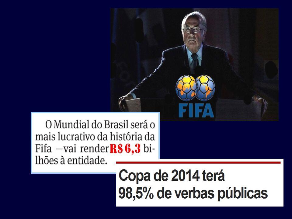 Projeções atualizadas, levando em consideração o volume de patrocínio e direitos de transmissão, indicam que os ganhos da Fifa passarão facilmente de
