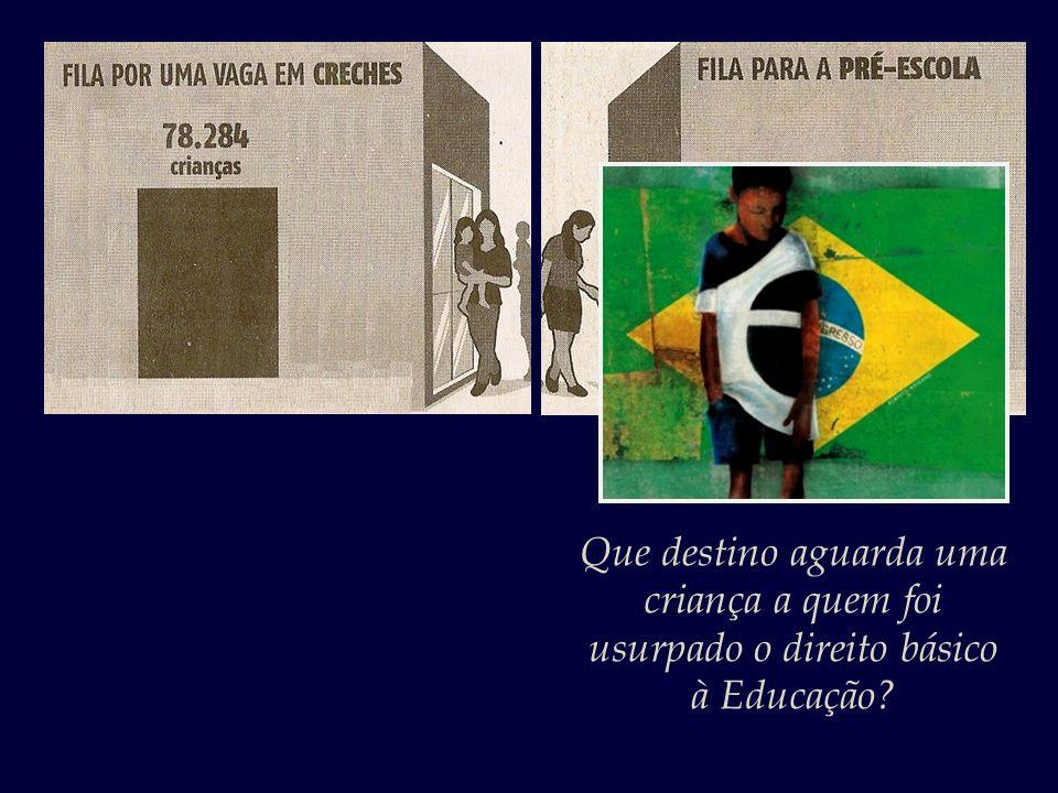 A educação no Brasil, infelizmente, não é um direito e sim um privilégio de uma parcela diminuta e abastada da sociedade.