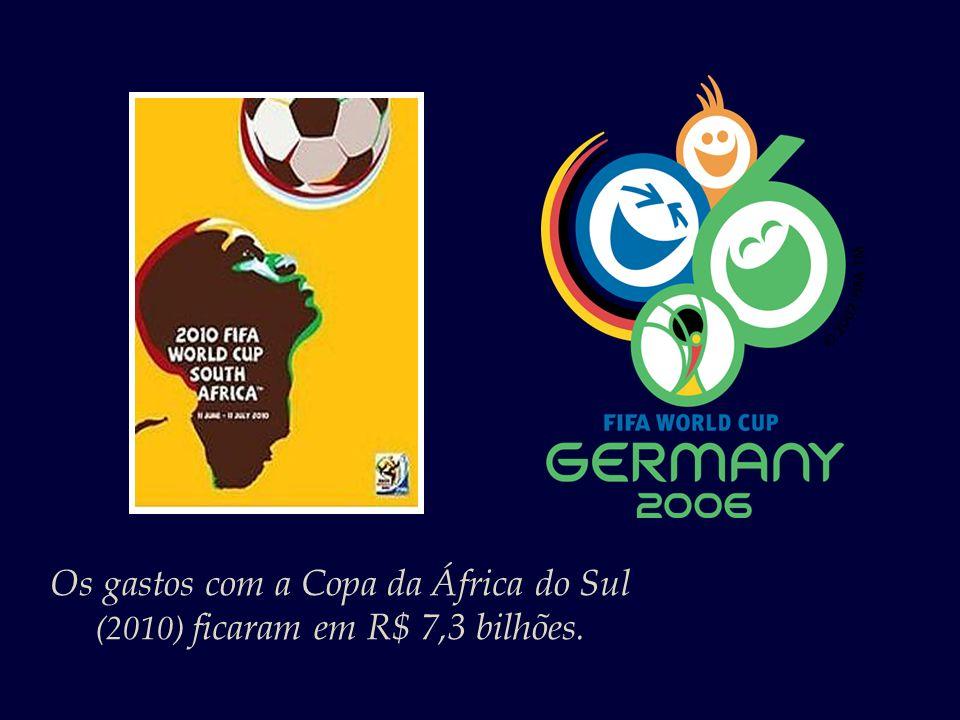 Os gastos com a Copa da África do Sul (2010) ficaram em R$ 7,3 bilhões.