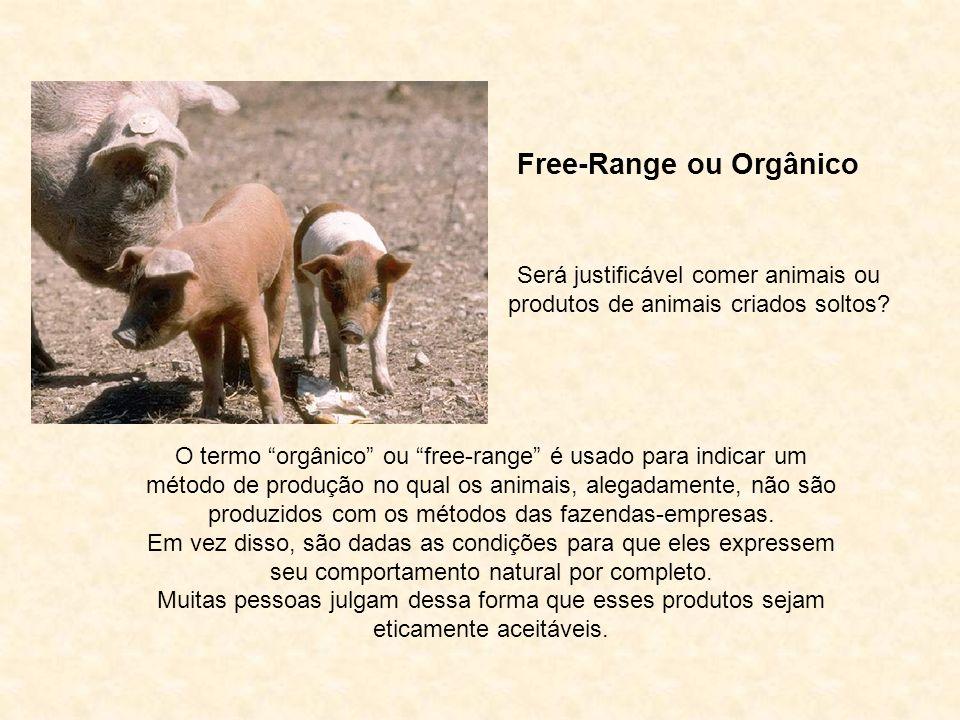 Animais e Produtos Orgânicos A idéia de que animais devam pagar por sua liberdade com suas vidas é uma sandice moral. David Cowles-Hamar Rildo Silveir