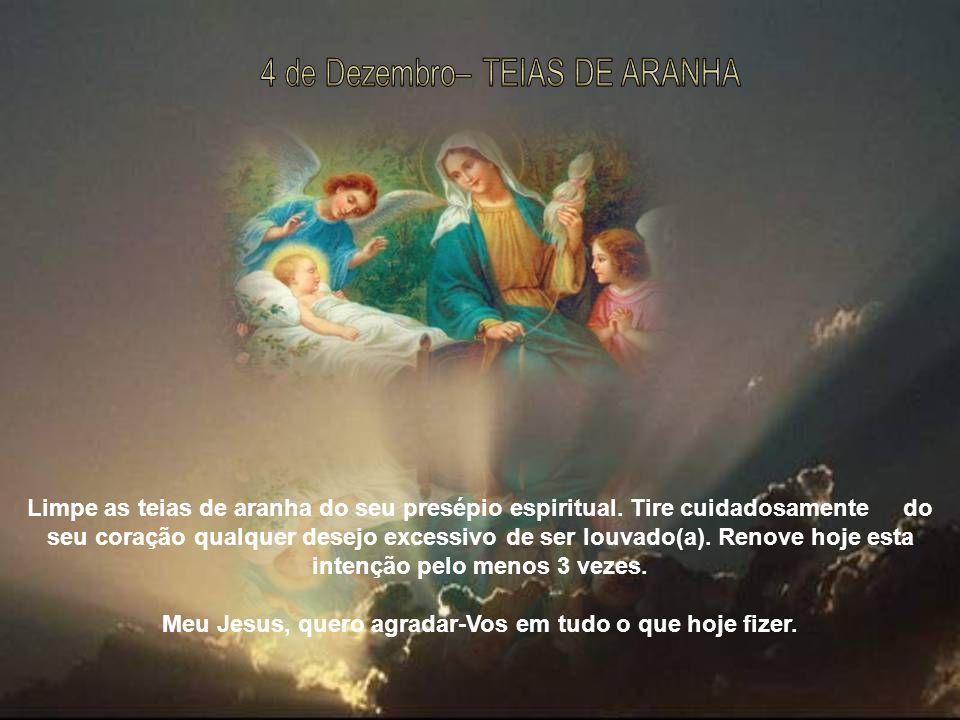 Procure que o telhado do estábulo esteja em boas condições, para que o Menino Jesus esteja protegido da chuva e da neve.