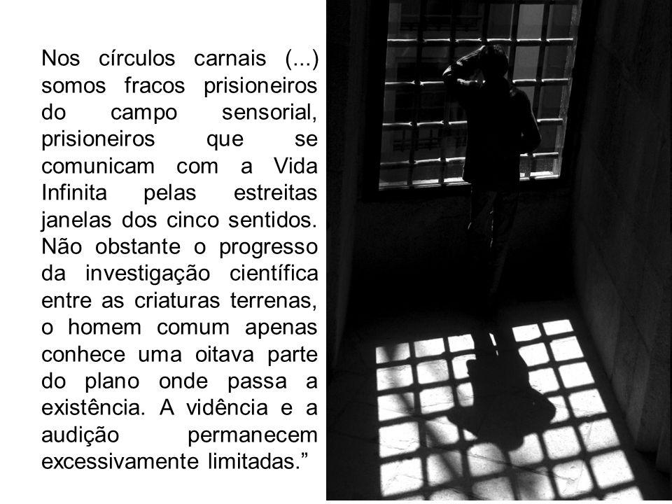 Nos círculos carnais (...) somos fracos prisioneiros do campo sensorial, prisioneiros que se comunicam com a Vida Infinita pelas estreitas janelas dos