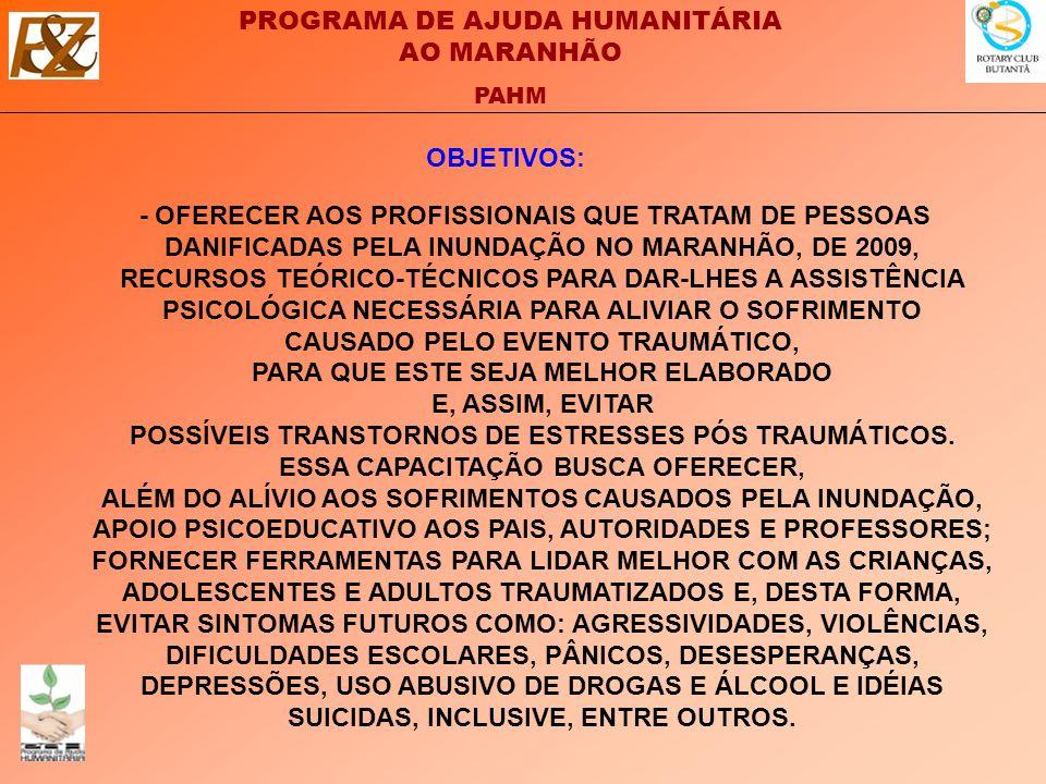 PROGRAMA DE AJUDA HUMANITÁRIA AO MARANHÃO PAHM Clique no logotipo para voltar ao site