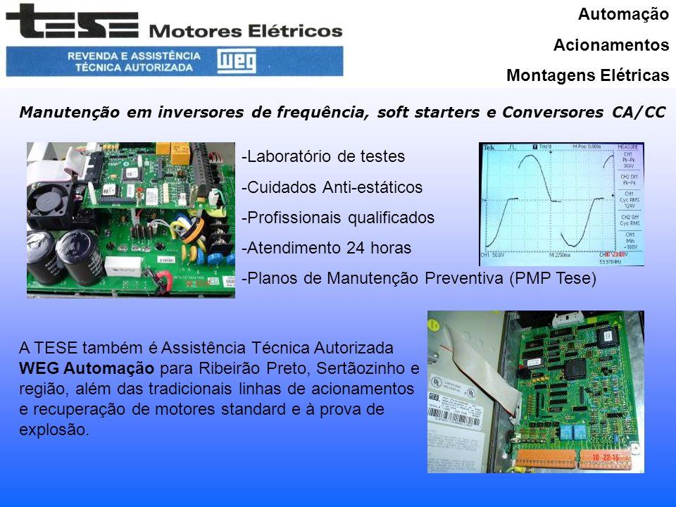 Automação Acionamentos Montagens Elétricas Projetos e Comissionamentos de Instalações e Painéis Projetos em turn-key Comissionamentos Start-up em montagens de terceiros Levantamentos Retrofit´s em máquinas elétricas Serviços com Anotação de Responsabilidade Técnica (CREA-SP)