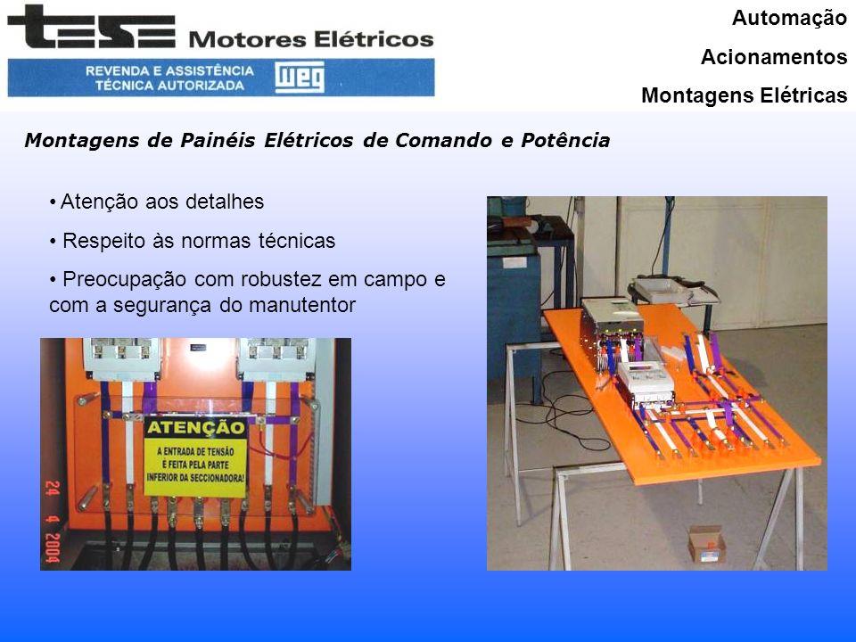 Automação Acionamentos Montagens Elétricas Principais fornecimentos MARTINELLI PERFILADOS – Acionamento completo da Ponte Rolante 10 T Dimensionamento, fornecimento de todas as peças e motores, montagem do painel e instalação da ponte executadas pela TESE.