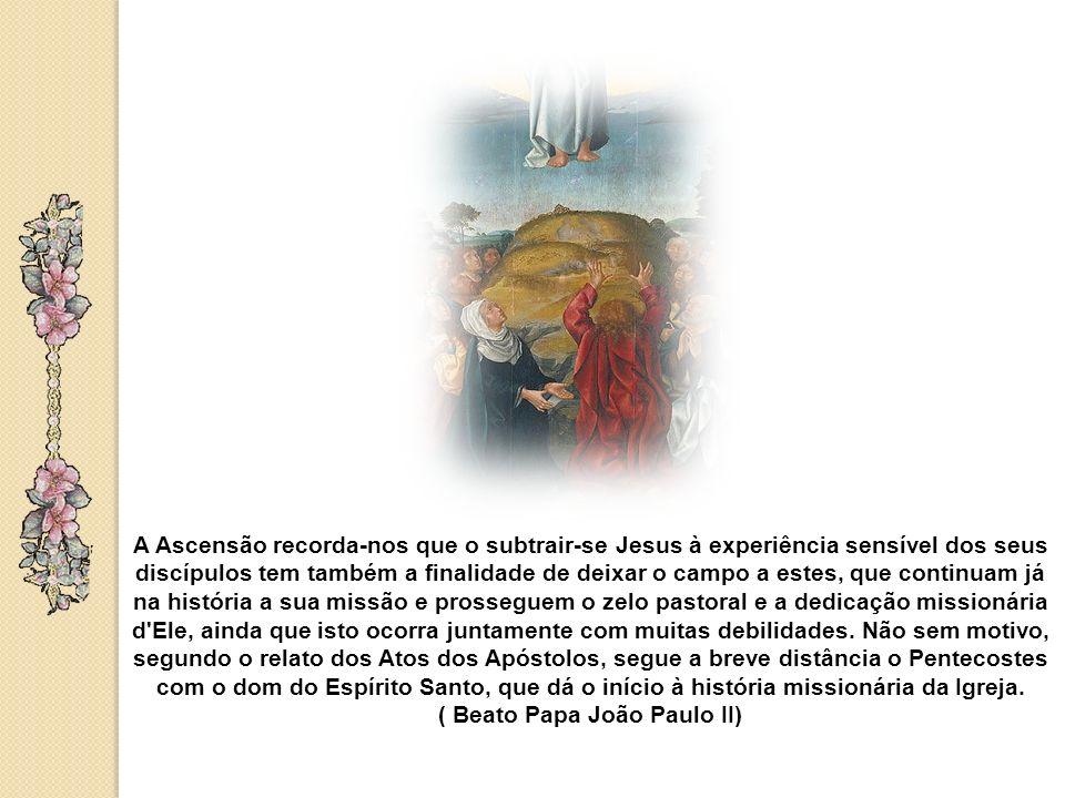 Somos também chamados a renovar os nossos compromissos de apostolado, depositando nas mãos do Senhor os nossos propósitos. Ao fazermos isto, devemos m