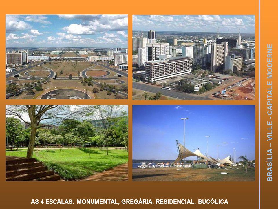 AS 4 ESCALAS: MONUMENTAL, GREGÁRIA, RESIDENCIAL, BUCÓLICA