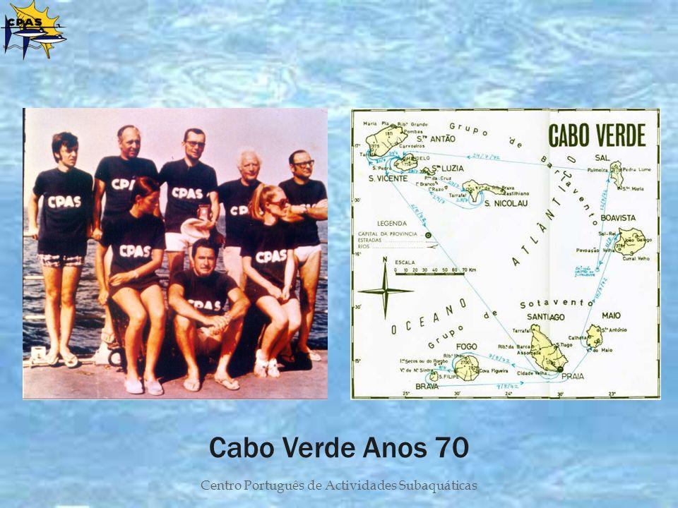 Centro Português de Actividades Subaquáticas Cabo Verde Anos 70