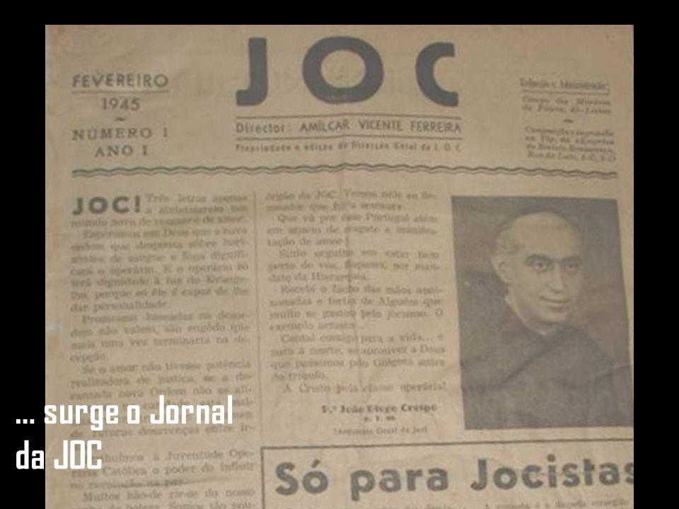 … surge o Jornal da JOC