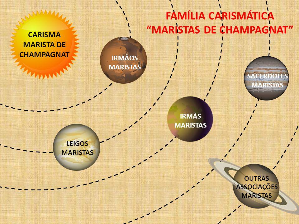 CARISMA MARISTA DE CHAMPAGNAT IRMÃOS MARISTAS IRMÃS MARISTAS LEIGOS MARISTAS SACERDOTES MARISTAS OUTRAS ASSOCIAÇÕES MARISTAS FAMÍLIA CARISMÁTICA MARIS