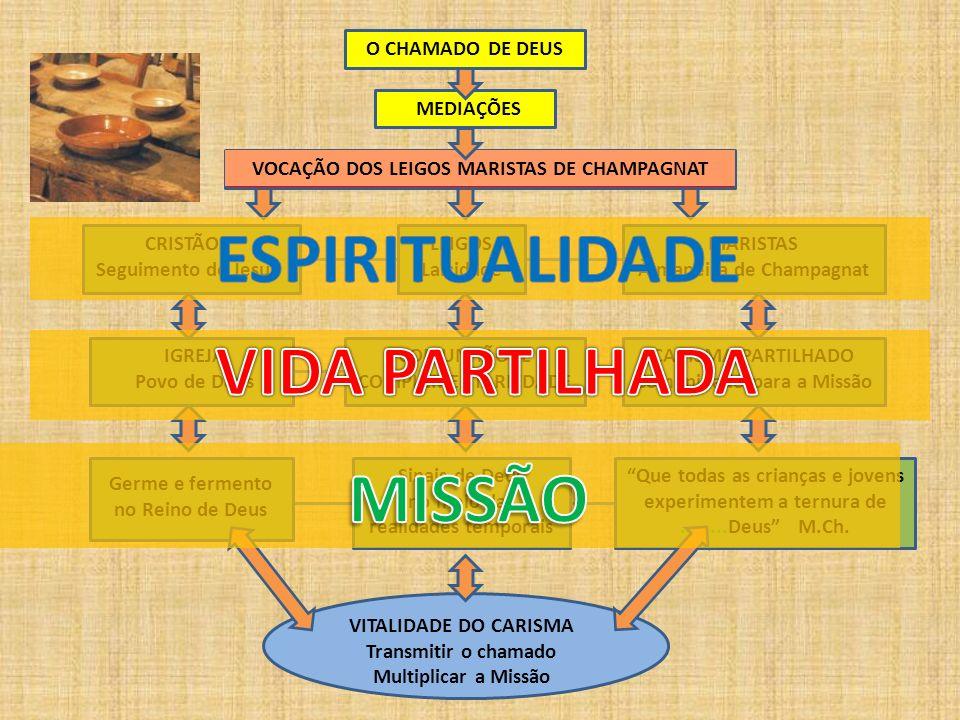 O CHAMADO DE DEUS MEDIAÇÕES VOCAÇÃO DOS LEIGOS MARISTAS DE CHAMPAGNAT CRISTÃOS Seguimento de Jesus LEIGOS Laicidade MARISTAS À maneira de Champagnat I