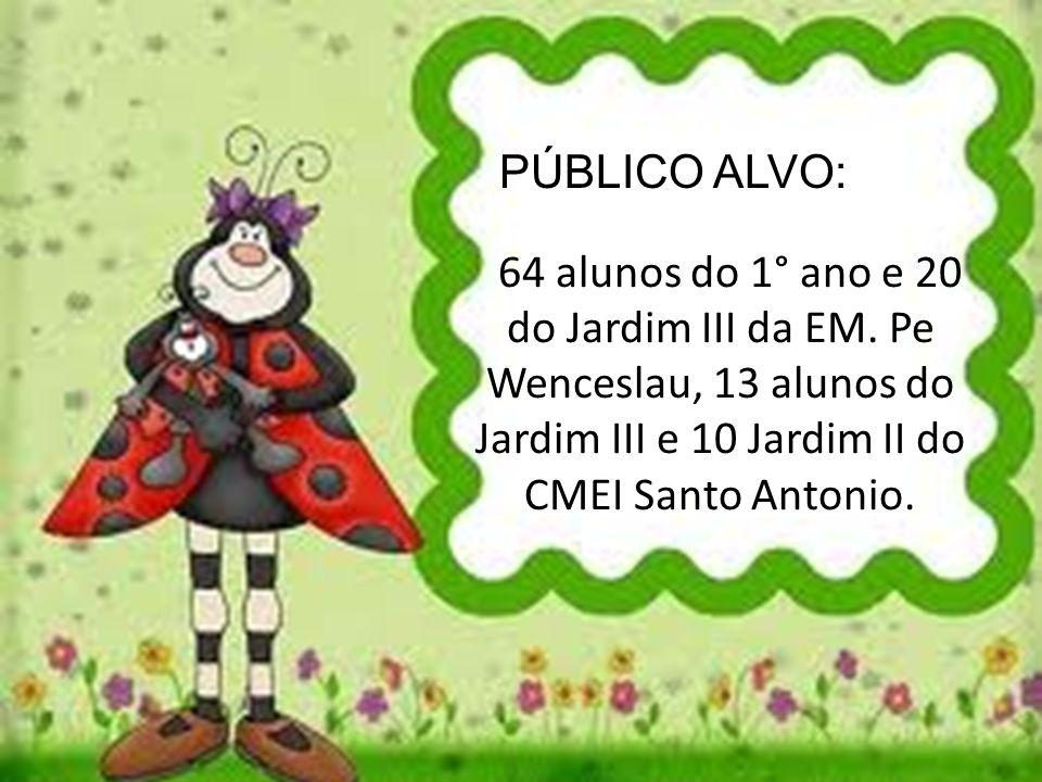 Ações: Teatro apresentado por Alunos do Mais Educação da Escola Municipal Pequeno Duque (14:10 – 14:30); Brincadeiras Livres na quadra; Lanche; Brinca