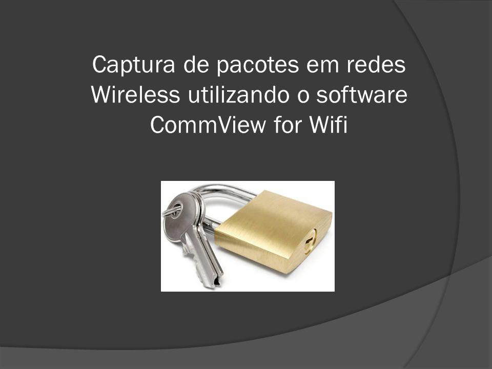 INTRODUÇÃO O software CommView para WIFI é especialmente projetado para capturar e analisar pacotes de rede wireless.