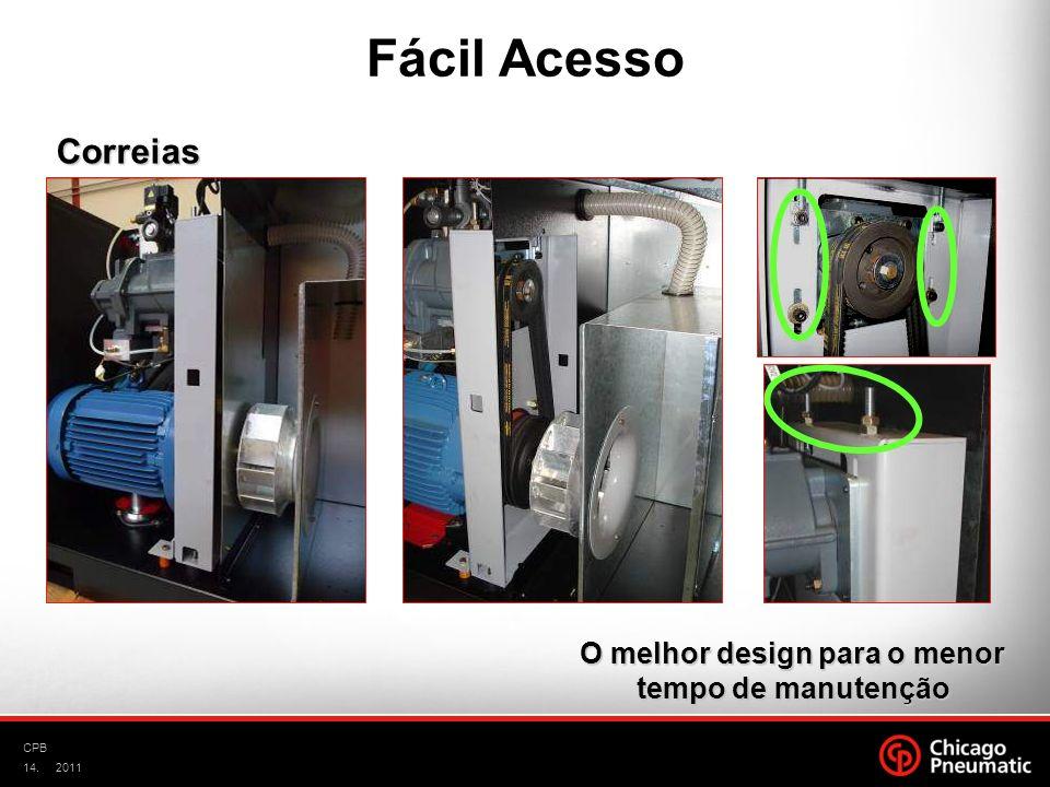 14. CPB 2011 Correias O melhor design para o menor tempo de manutenção Fácil Acesso