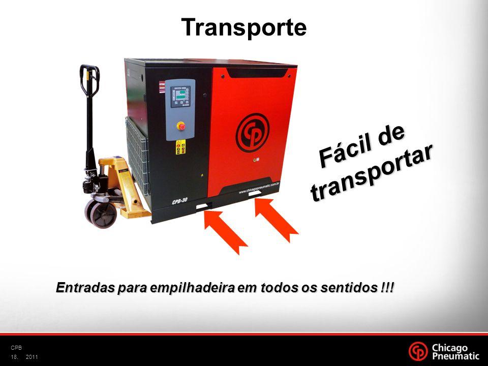 18. CPB 2011 Entradas para empilhadeira em todos os sentidos !!! Fácil de transportar Transporte