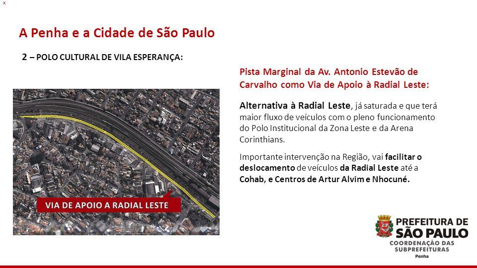 A Penha e a Cidade de São Paulo Pista Marginal da Av. Antonio Estevão de Carvalho como Via de Apoio à Radial Leste: Alternativa à Radial Leste, já sat