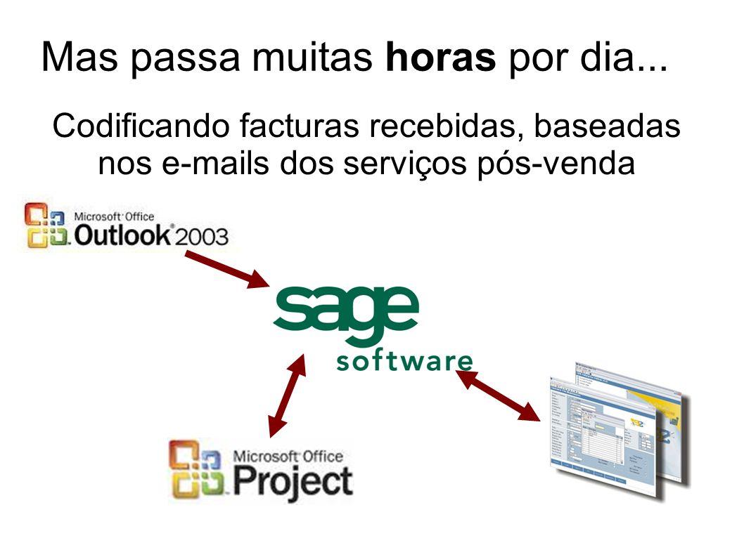 Codificando facturas recebidas, baseadas nos e-mails dos serviços pós-venda Mas passa muitas horas por dia...
