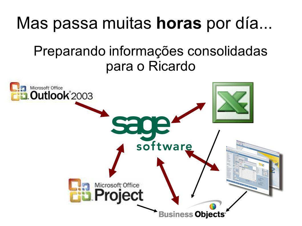 Preparando informações consolidadas para o Ricardo Mas passa muitas horas por día...
