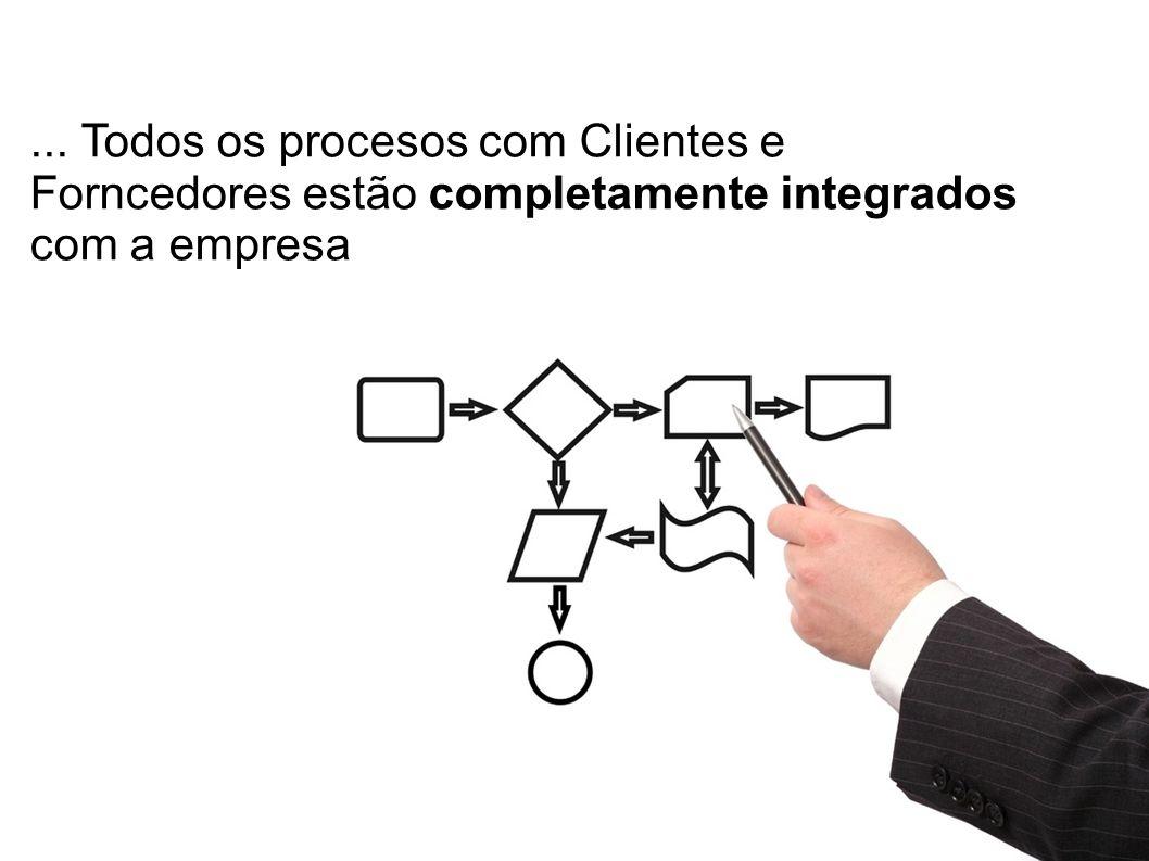 ... Todos os procesos com Clientes e Forncedores estão completamente integrados com a empresa