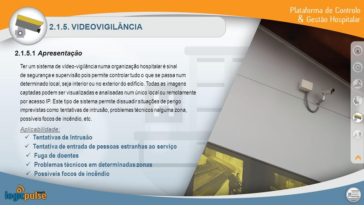 2.1.5. VIDEOVIGILÂNCIA 2.1.5.1 Apresentação Ter um sistema de vídeo-vigilância numa organização hospitalar é sinal de segurança e supervisão pois perm