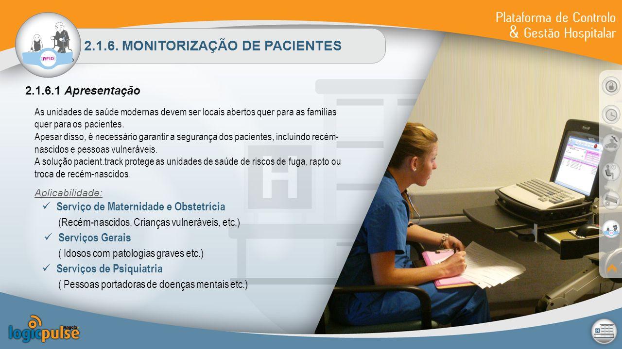 2.1.6. MONITORIZAÇÃO DE PACIENTES 2.1.6.1 Apresentação As unidades de saúde modernas devem ser locais abertos quer para as famílias quer para os pacie