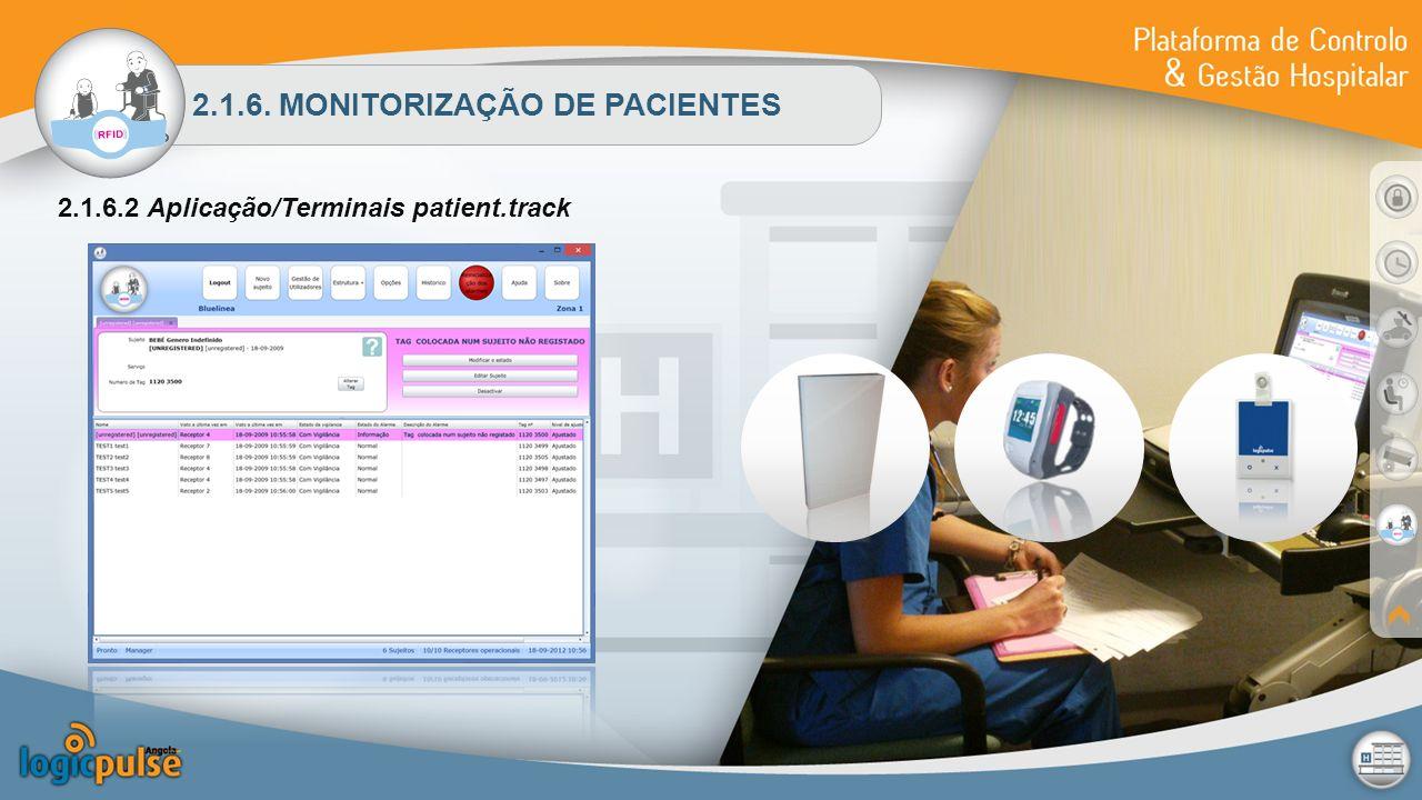 2.1.6. MONITORIZAÇÃO DE PACIENTES 2.1.6.2 Aplicação/Terminais patient.track