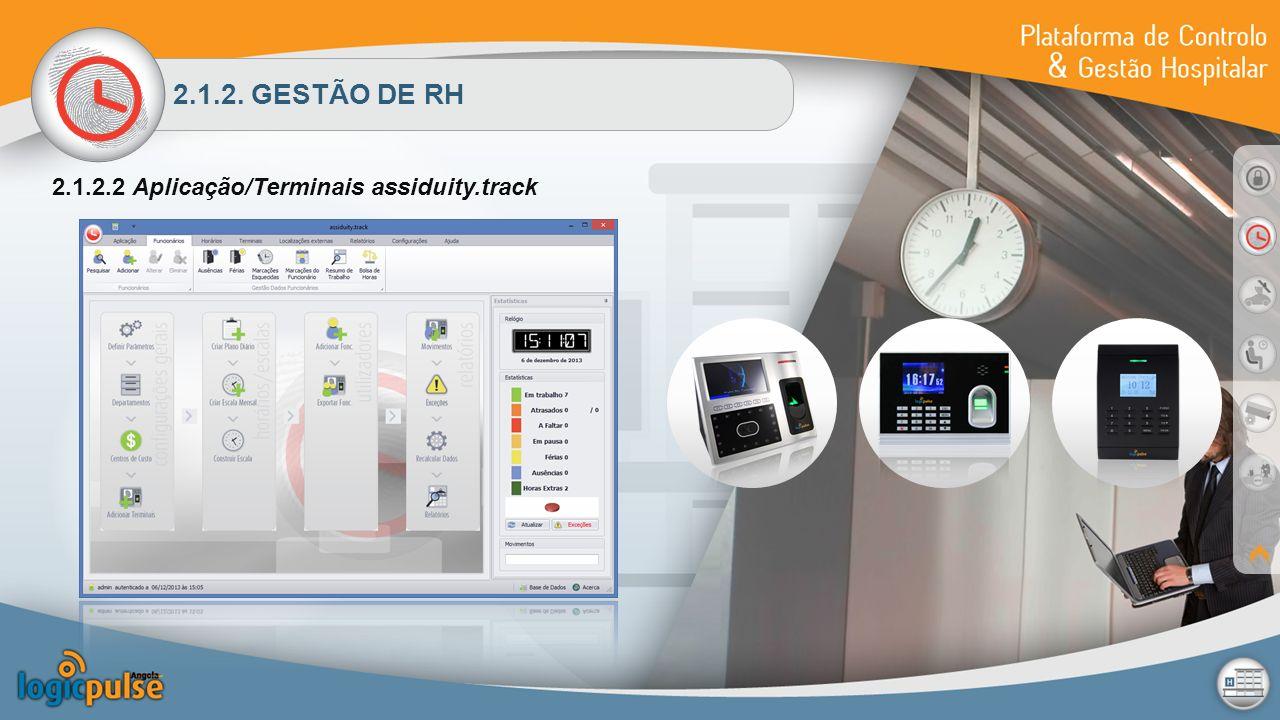 2.1.2. GESTÃO DE RH 2.1.2.2 Aplicação/Terminais assiduity.track