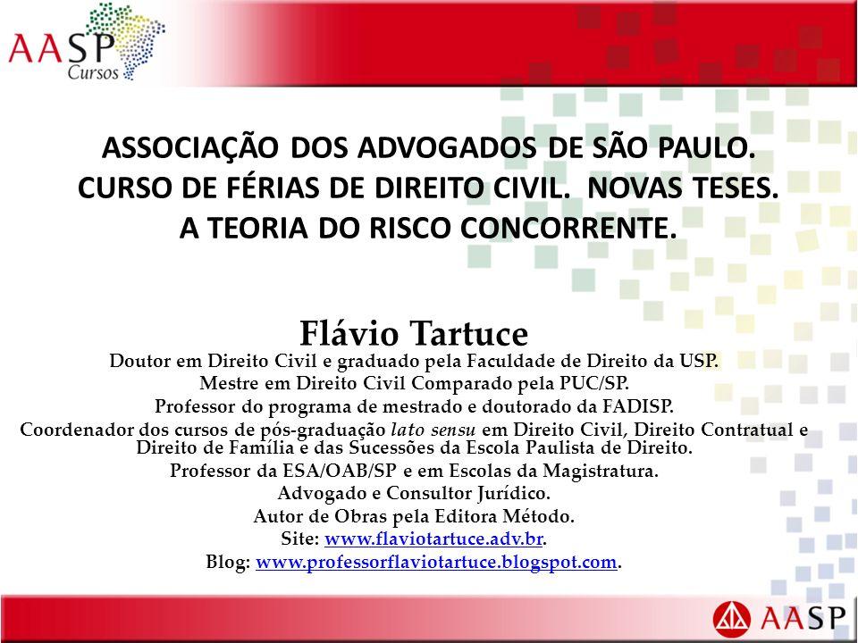 ASSOCIAÇÃO DOS ADVOGADOS DE SÃO PAULO. CURSO DE FÉRIAS DE DIREITO CIVIL. NOVAS TESES. A TEORIA DO RISCO CONCORRENTE. Flávio Tartuce Doutor em Direito
