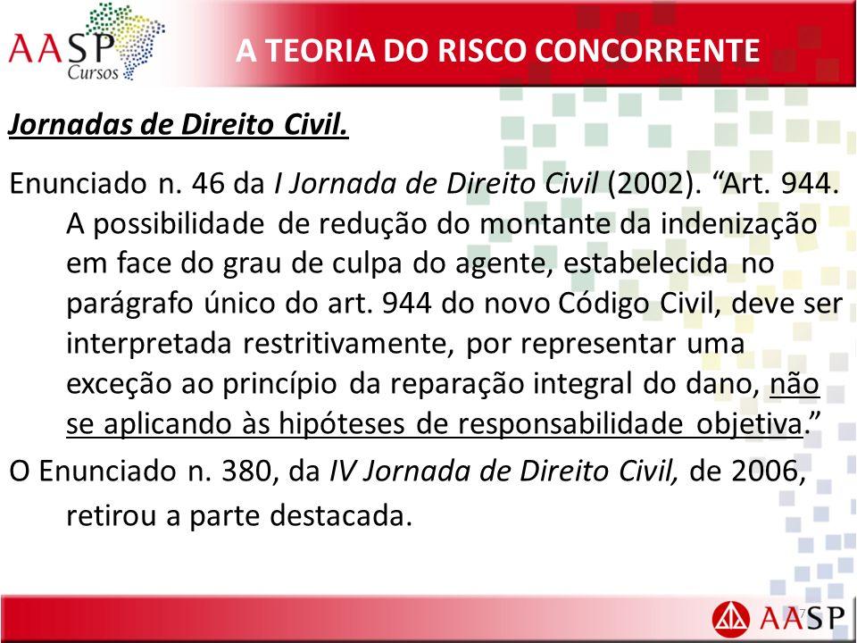 A TEORIA DO RISCO CONCORRENTE Jornadas de Direito Civil.