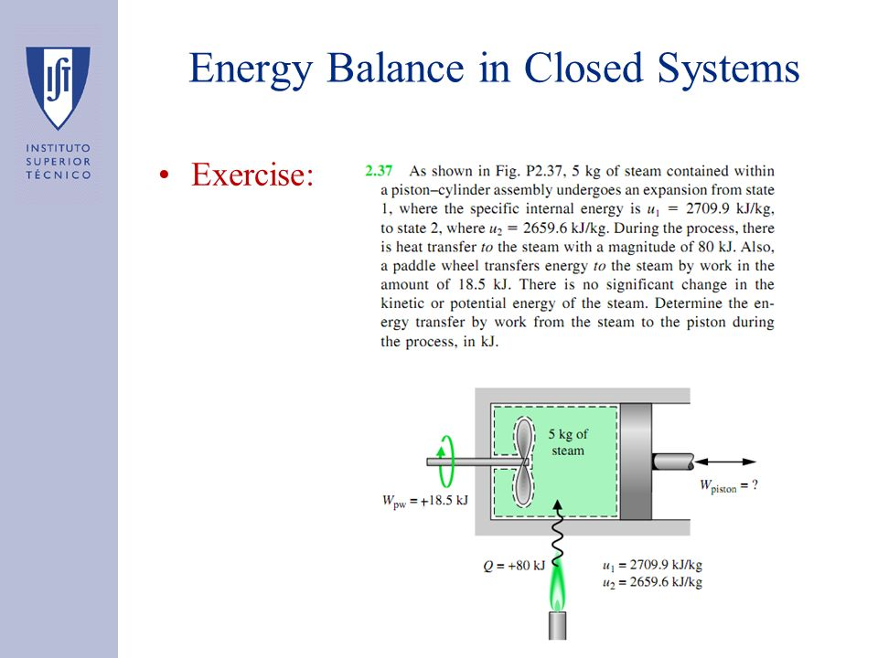 Exercise: Energy Balance in Closed Systems